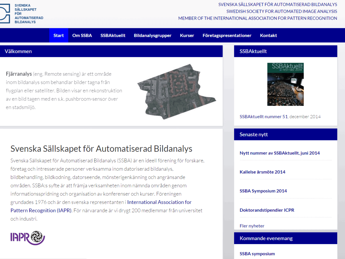 Skärmbild SSBA