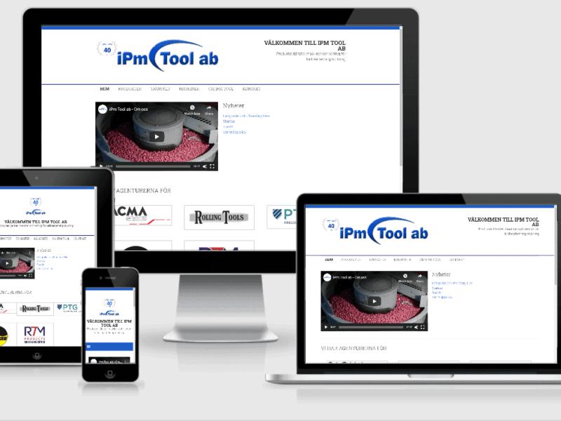 Webbplats till iPm Toll AB