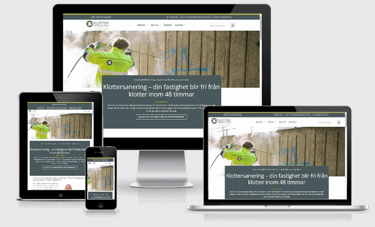 Webbplats till Klotterkonsulten