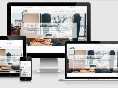 Webbplats till Lolles i Varberg
