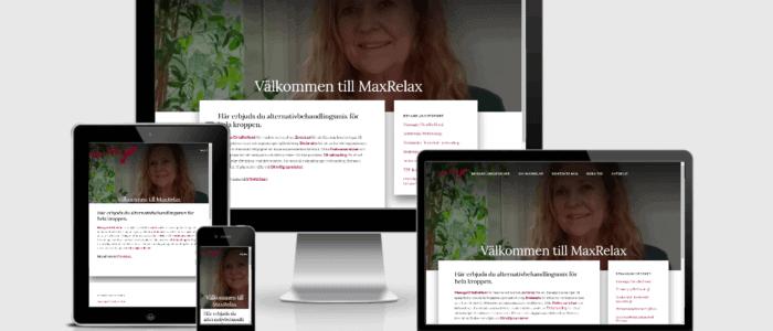Webbplats till MaxRelex